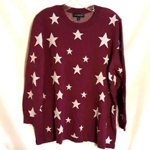 Lane Bryant Purple and White Star Sweater
